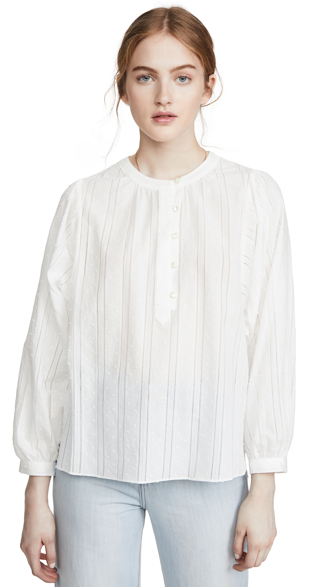 Buy Alex Mill online - photo of Alex Mill Easy Popover Top
