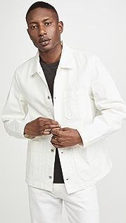 Alex Mill White Denim Work Jacket