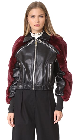 AMKIE La Tinta Bomber Jacket - Black/Burgundy