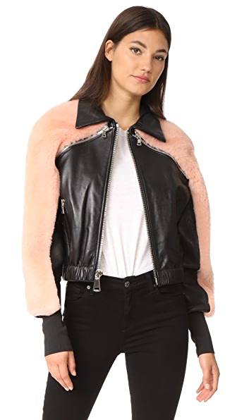 AMKIE Blossom Bomber Jacket - Black/Pink