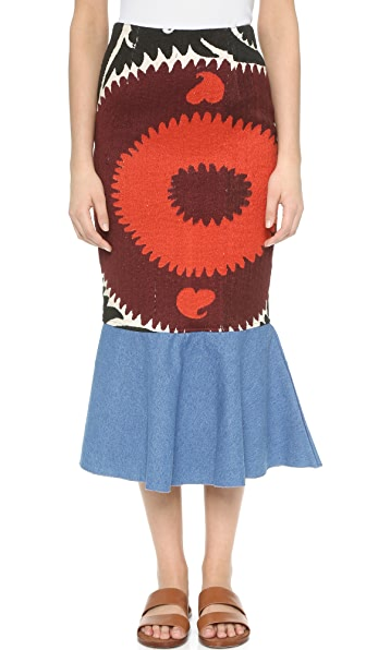 All Things Mochi Uzbek Ruffle Skirt - Black at Shopbop
