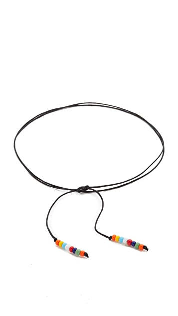 All Things Mochi Beaded Thread Choker Necklace