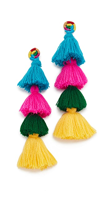 All Things Mochi Moroccan String Tassel Earrings