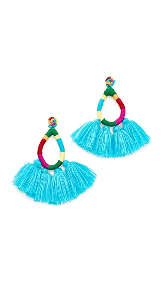 All Things Mochi The Hallu Earrings In Blue