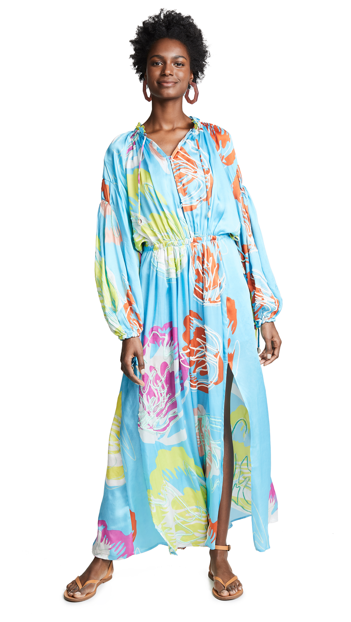 ALL THINGS MOCHI Fafia Dress in Aqua