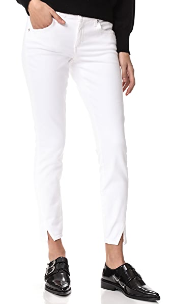 AMO Twist Side Slit Jeans - Sea Salt