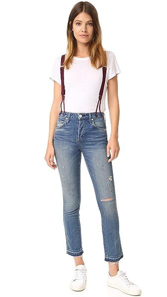 Amo Babe Suspender Jeans - Dive Bar Destroy at Shopbop