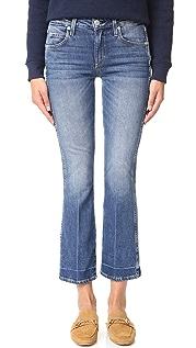 AMO Укороченные расклешенные джинсы Jane