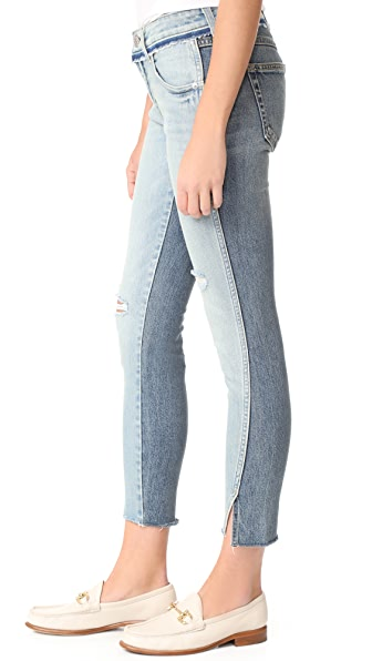 AMO Two Tone Twist Jeans - Rise & Shine