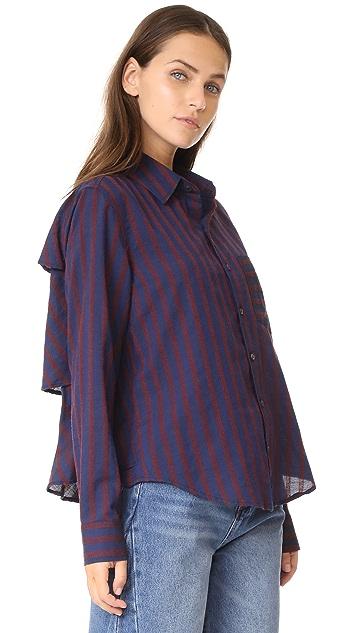AMO Ruffle Prep Shirt