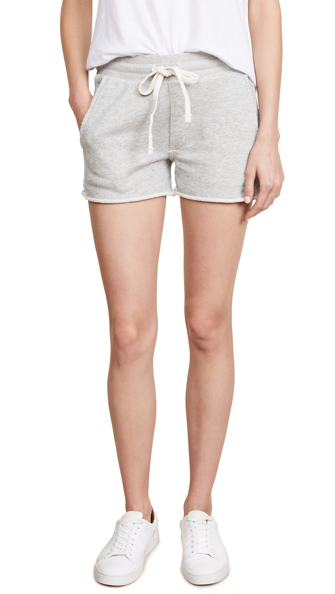 AMO Shorty Shorts In Heather Grey