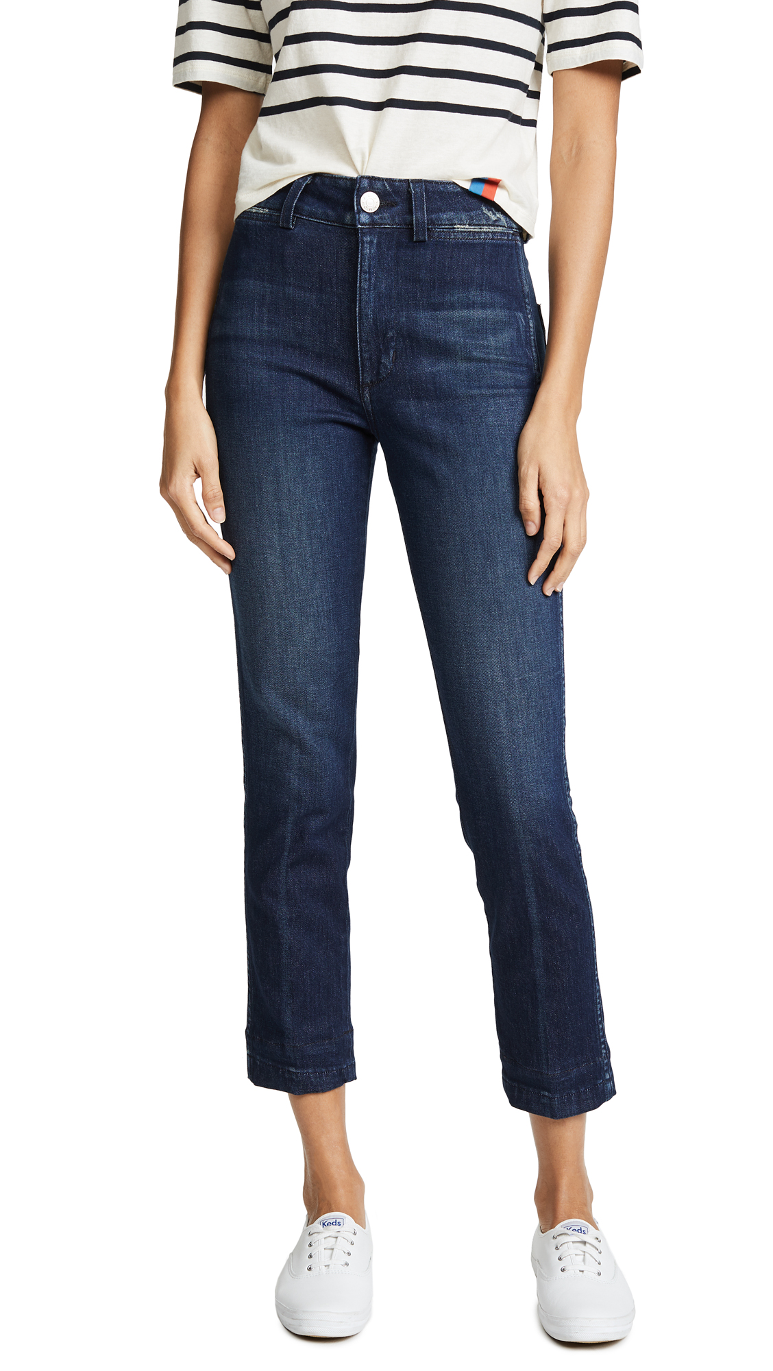 AMO Audrey High Rise Cigarette Jeans In Eclipse