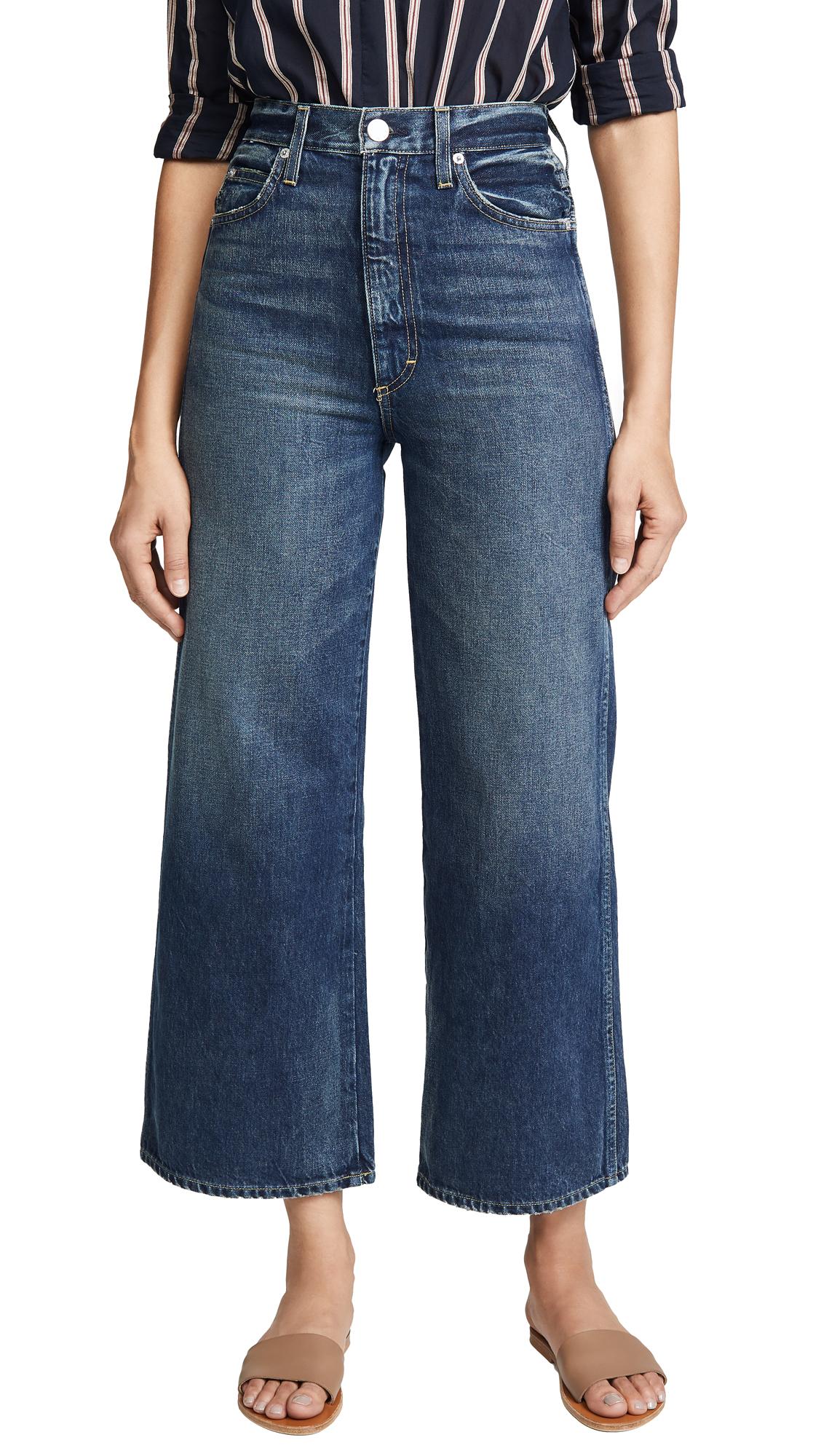 Ava Crop Wide Leg Jeans in 300 Cherish
