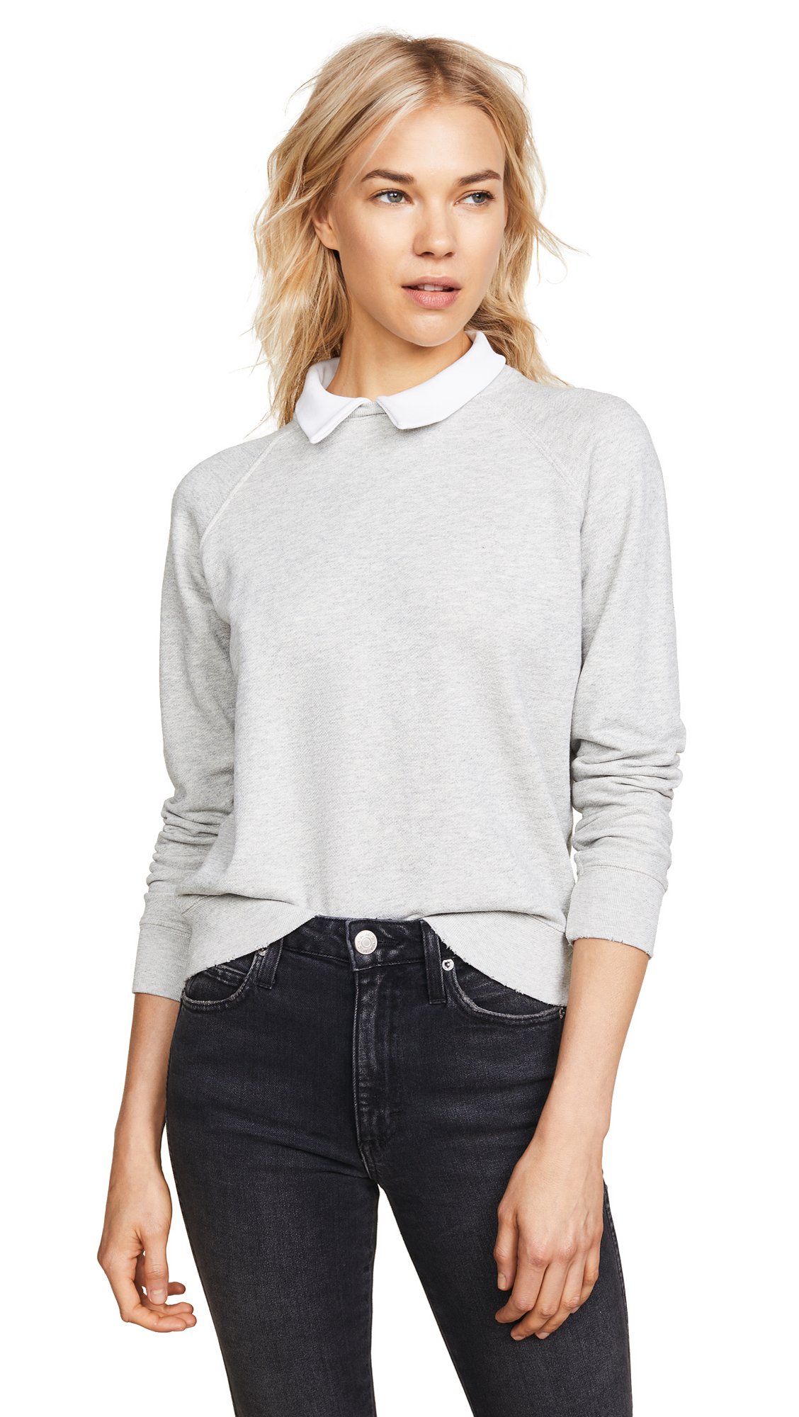 AMO Prep Sweatshirt In Heather Grey