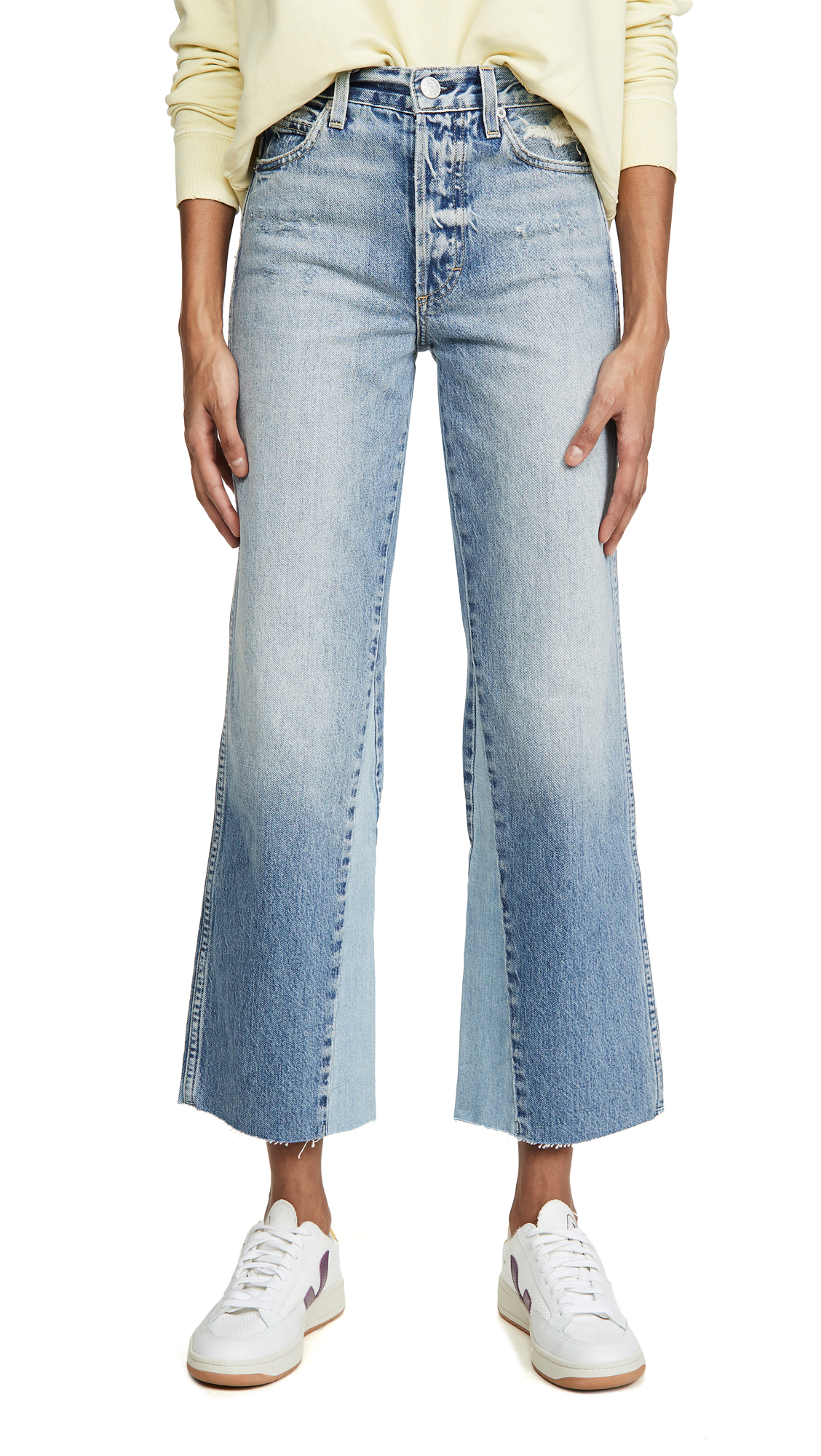 Buy AMO online - photo of AMO Diy Wide Leg High Rise Relaxed Bootcut Jeans