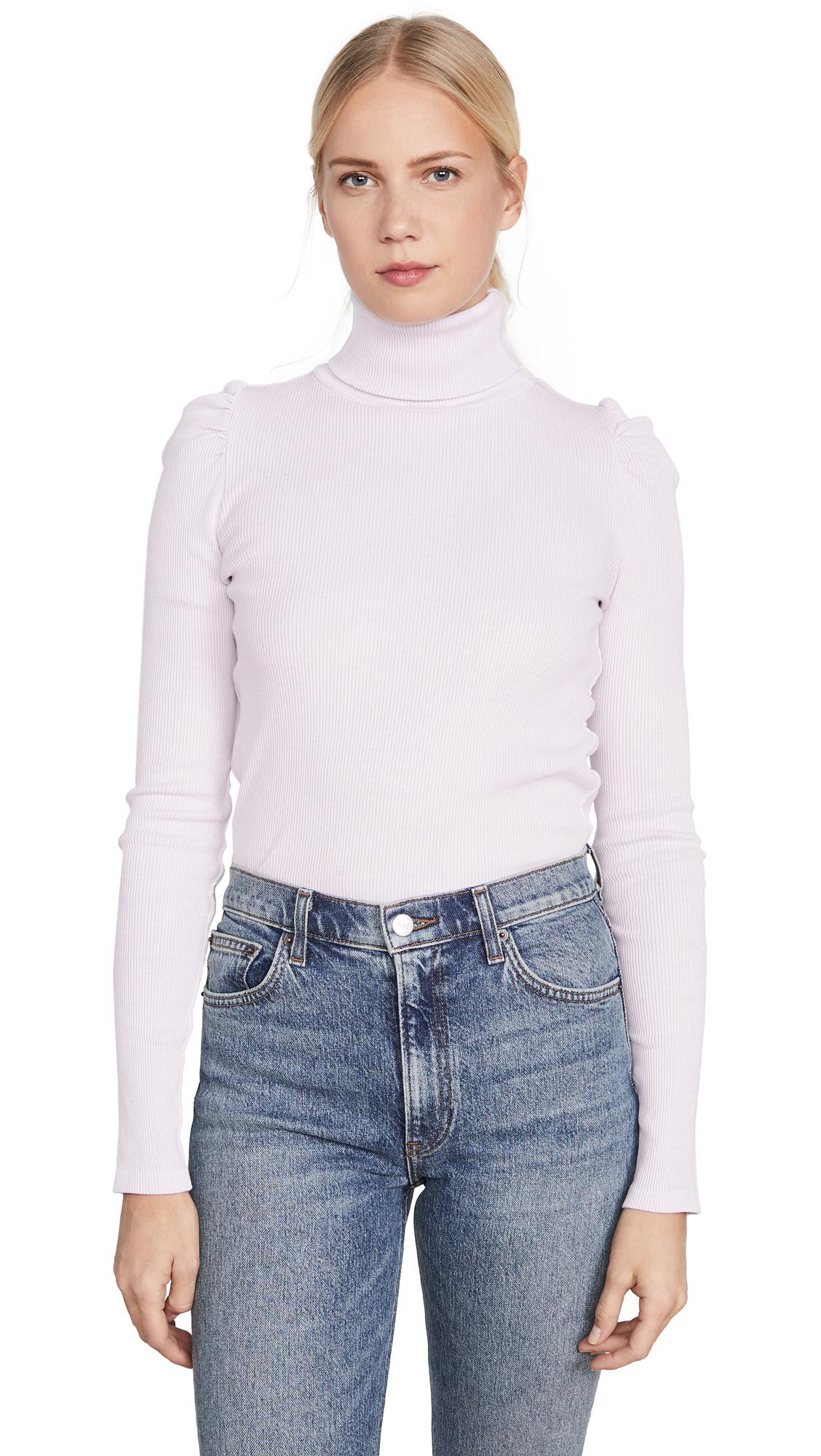 Buy AMO online - photo of AMO Puff Sleeve Turtleneck Top
