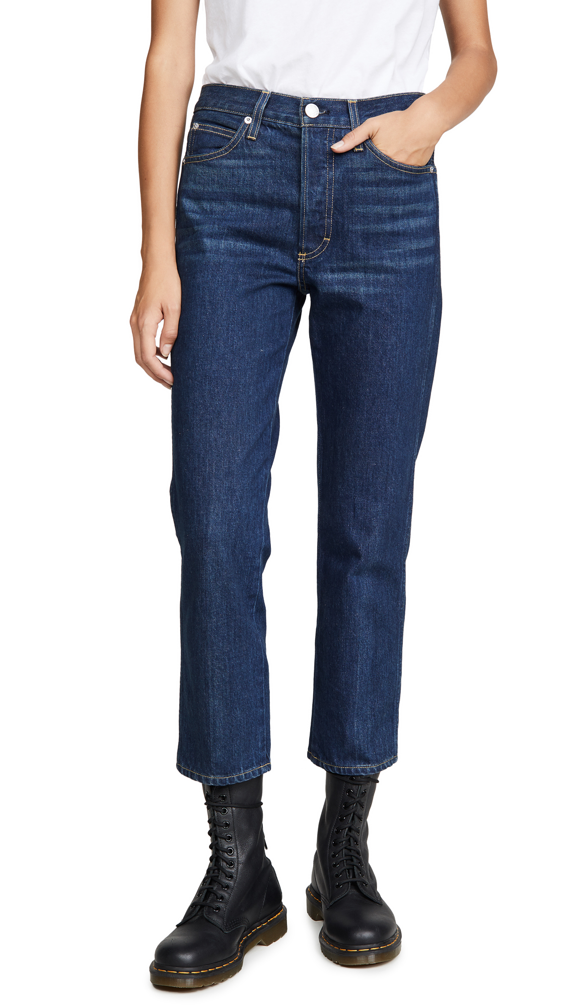 Buy AMO online - photo of AMO Loverboy High Rise Relaxed Straight Jeans