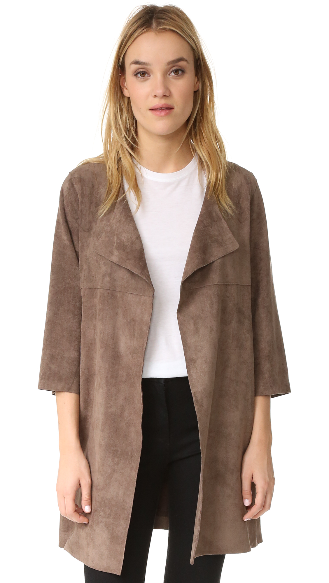 And B Marlo Faux Suede Jacket - Taupe at Shopbop