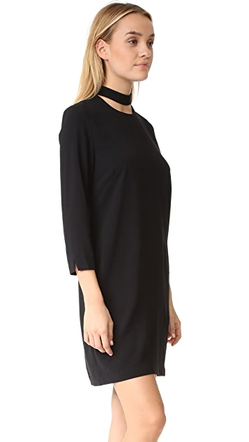 And B Mock Cutout Neck Dress