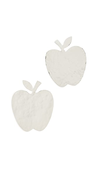 ANNDRA NEEN APPLE EARRINGS