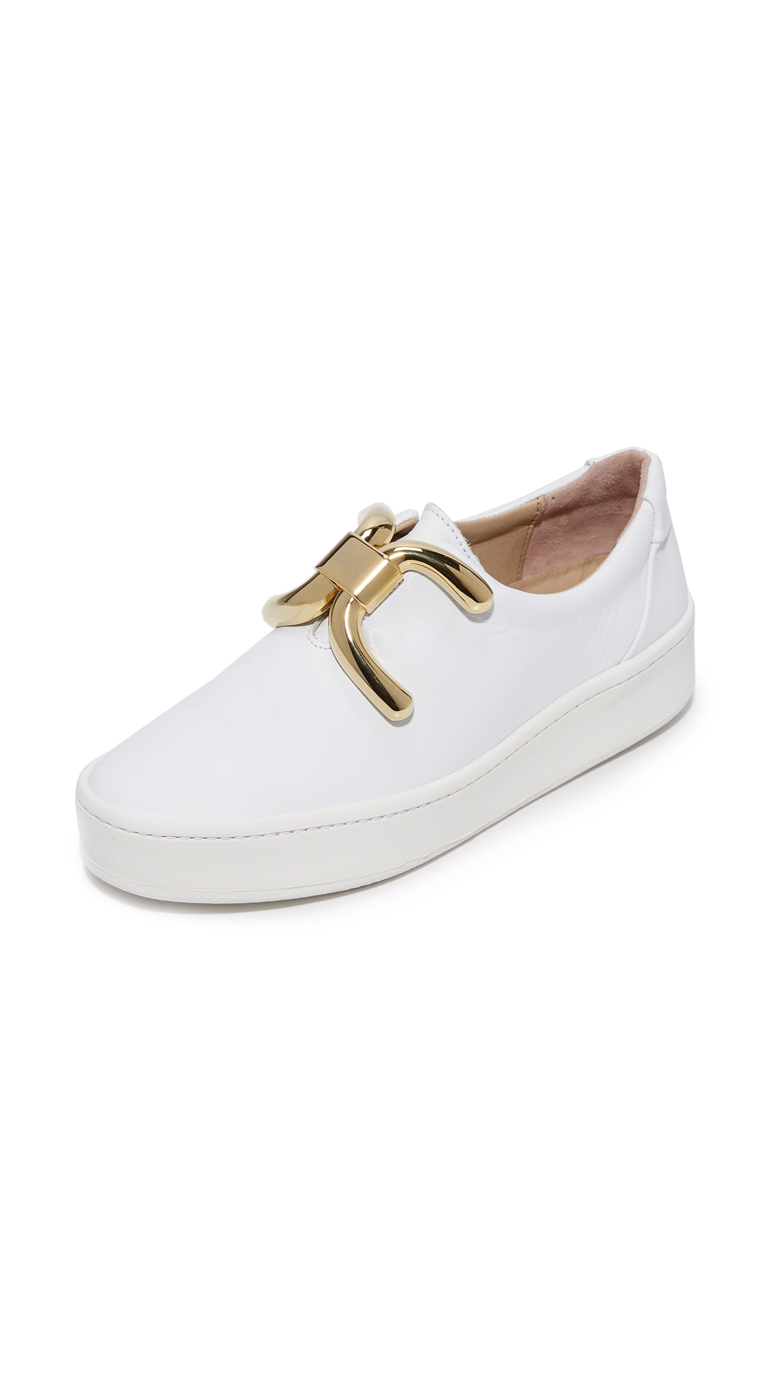 An Hour and A Shower Knot Sneakers - White