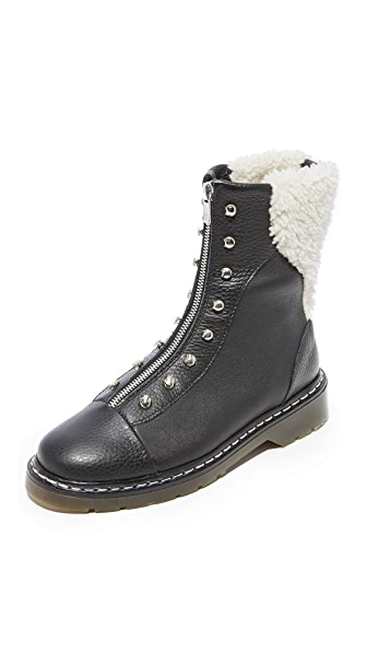 An Hour and A Shower Dana Shearling Booties - Black