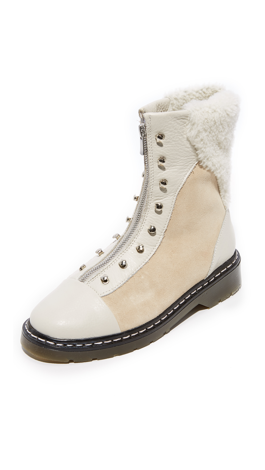 An Hour and A Shower Dana Shearling Booties - Lamb