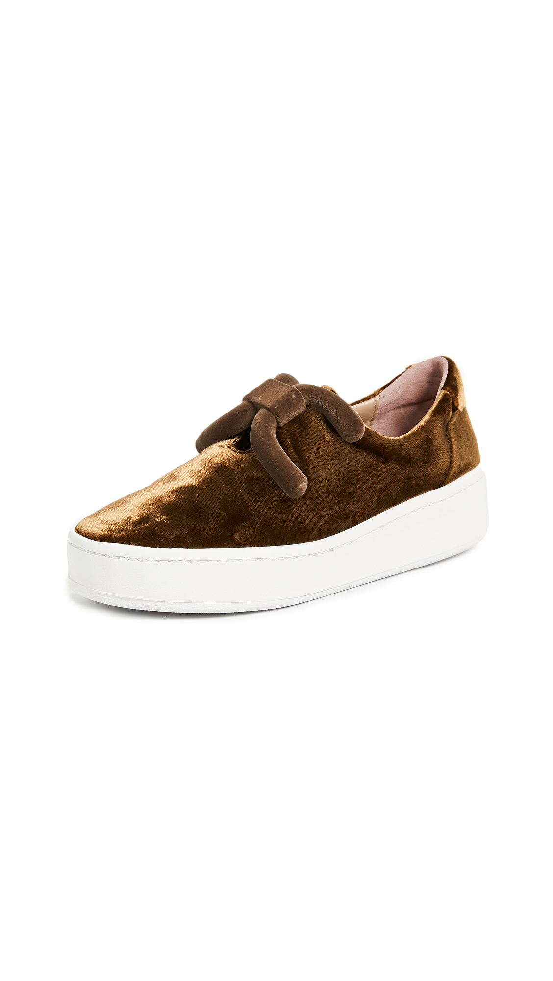 An Hour and A Shower Knot Slip On Sneakers - Golden Brown