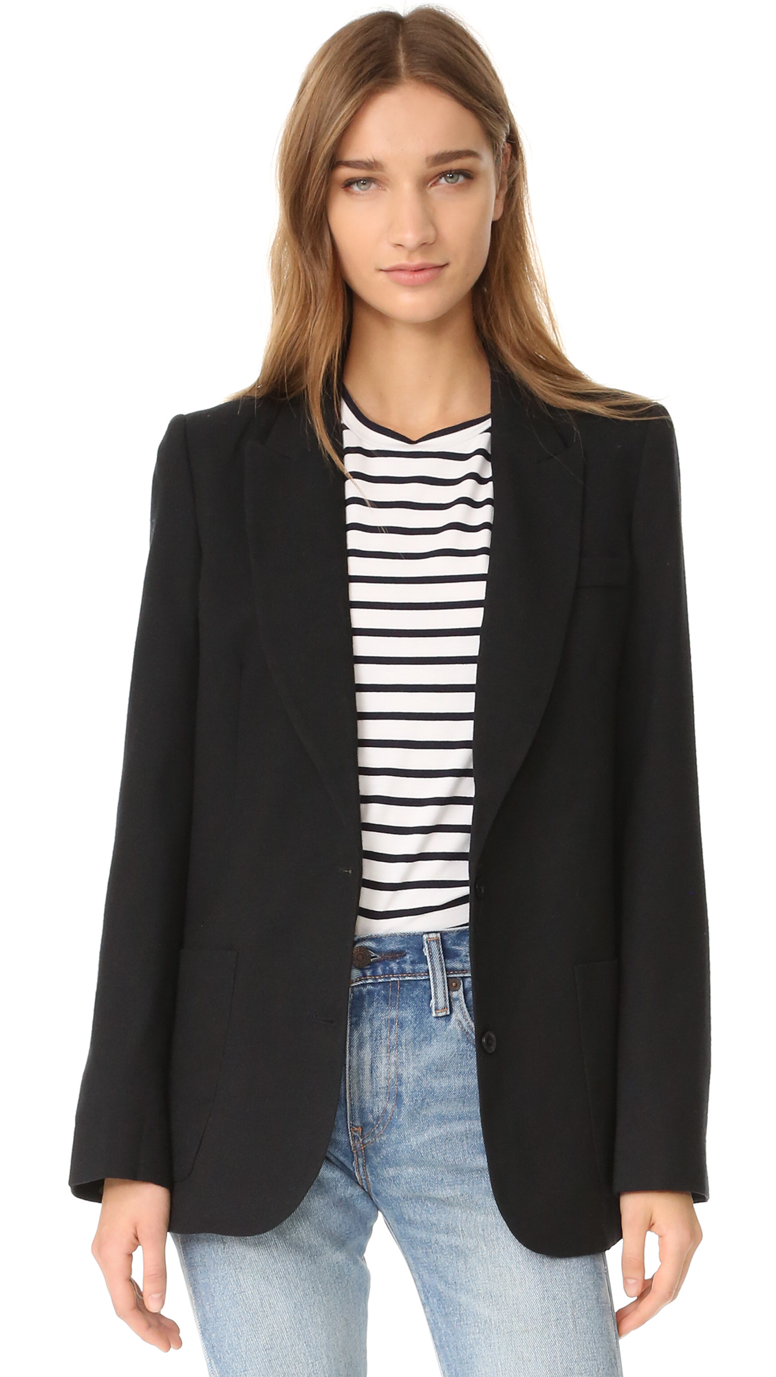 Anine Bing Classic Fit Blazer - Black at Shopbop