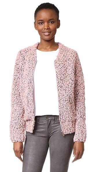 ANINE BING Knit Bomber Jacket