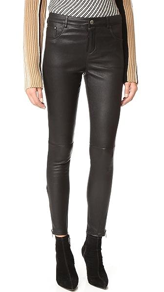 ANINE BING Classic Leather Pants