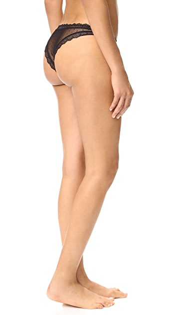 ANINE BING Dotted Lace Panties Set