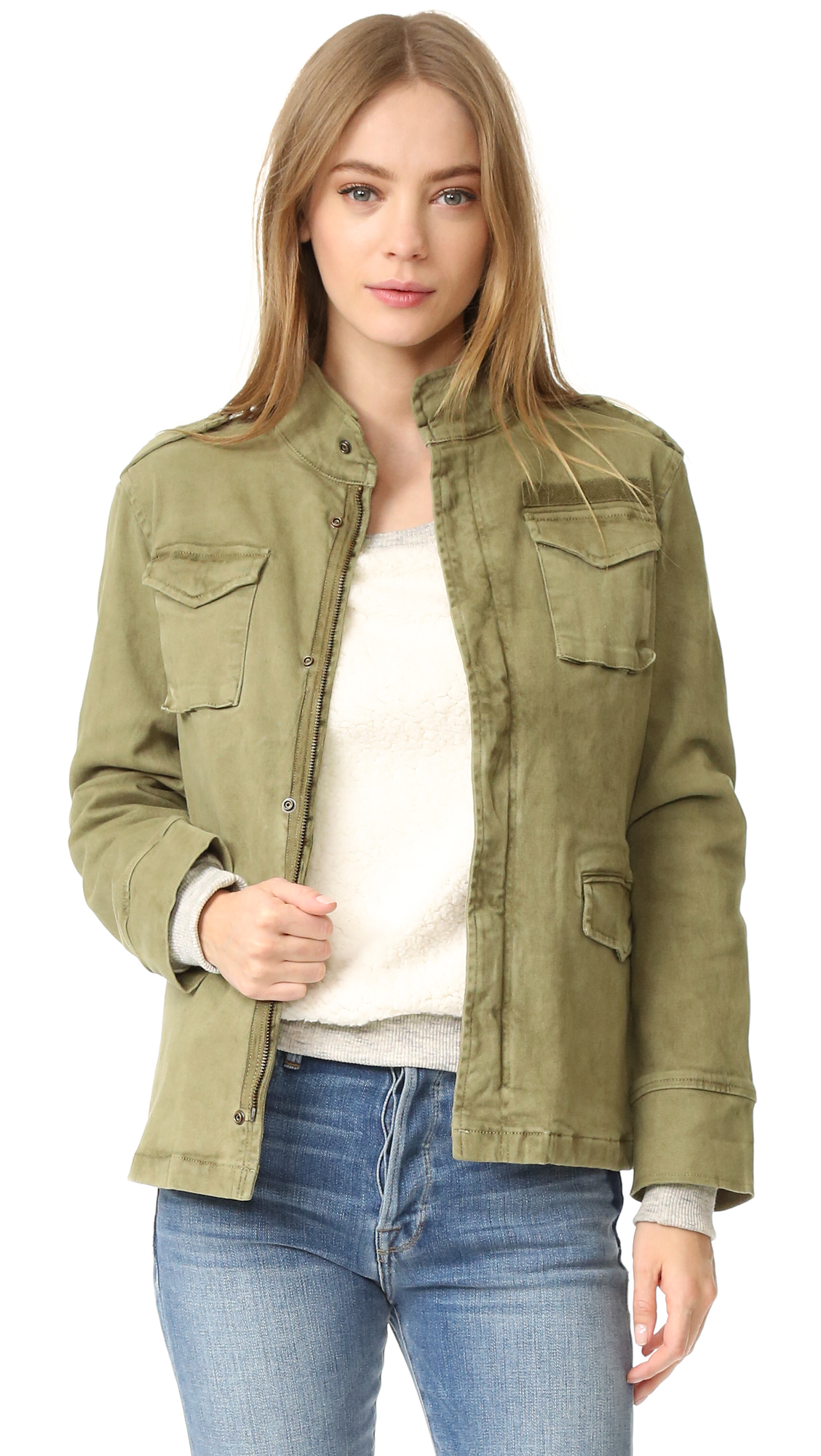 Anine Bing Army Jacket - Army Green at Shopbop