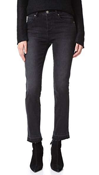 ANINE BING Open Hem Jeans - Charcoal