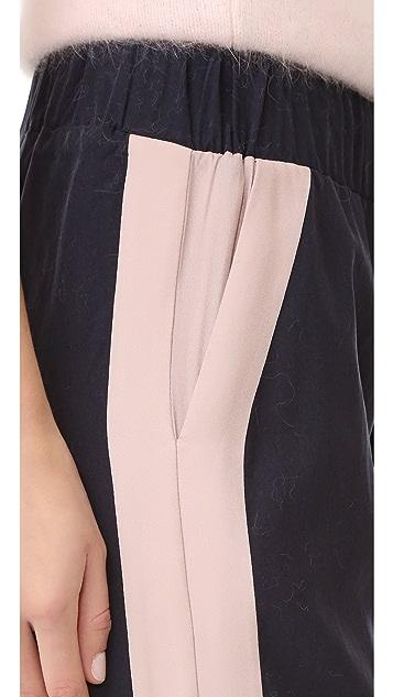 ANINE BING Stripe Detail Track Pants