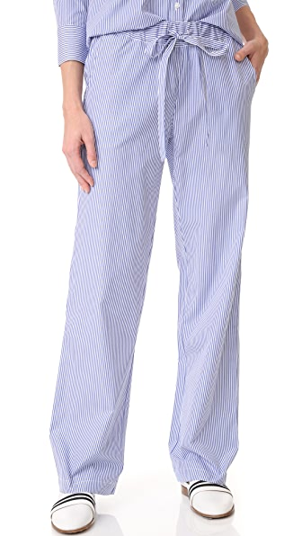 ANINE BING Striped Pajama Pants