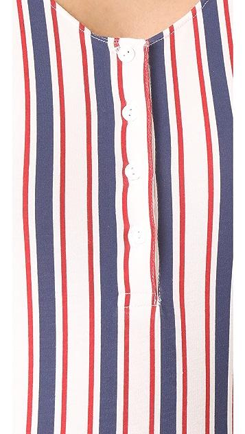 ANINE BING Button Front Bodysuit