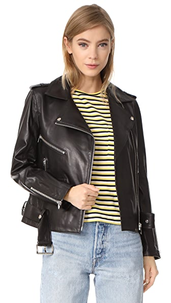 ANINE BING Soft Leather Jacket