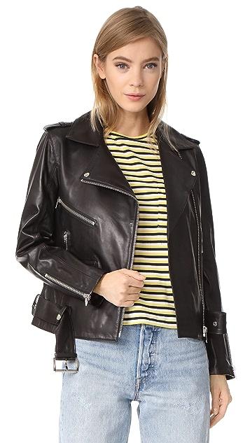 ANINE BING Soft Leather Jacket