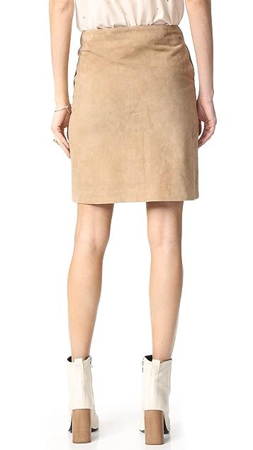 ANINE BING Button Down Suede Skirt