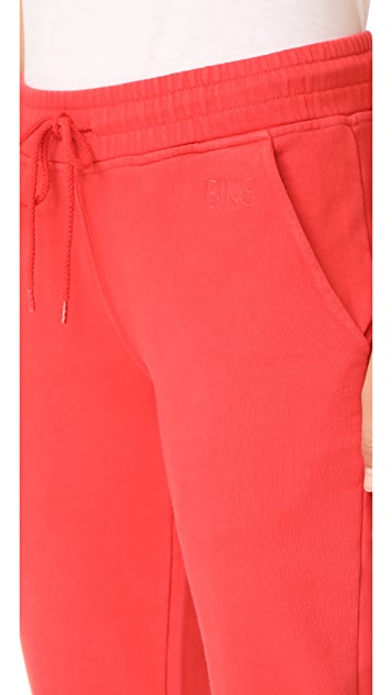 ANINE BING Nantucket Red Track Pants