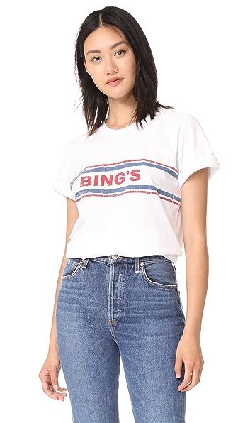 ANINE BING Vintage Bing's T-Shirt In White