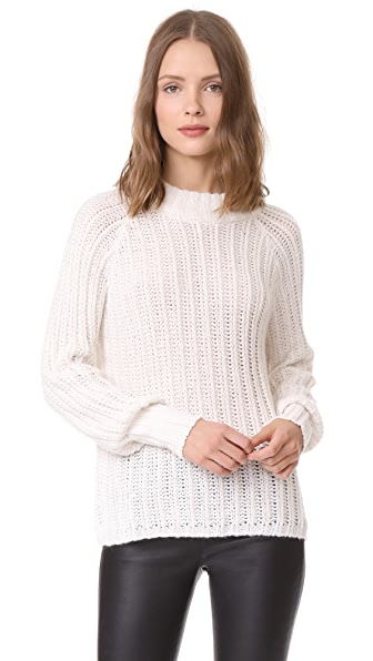 ANINE BING Beige Open Weave Summer Knit