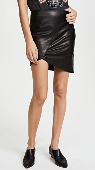 ANINE BING Asymmetric Leather Skirt