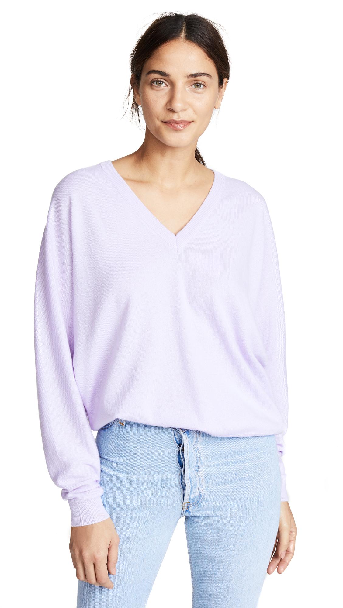 ANINE BING Josey Cashmere Sweater - Purple