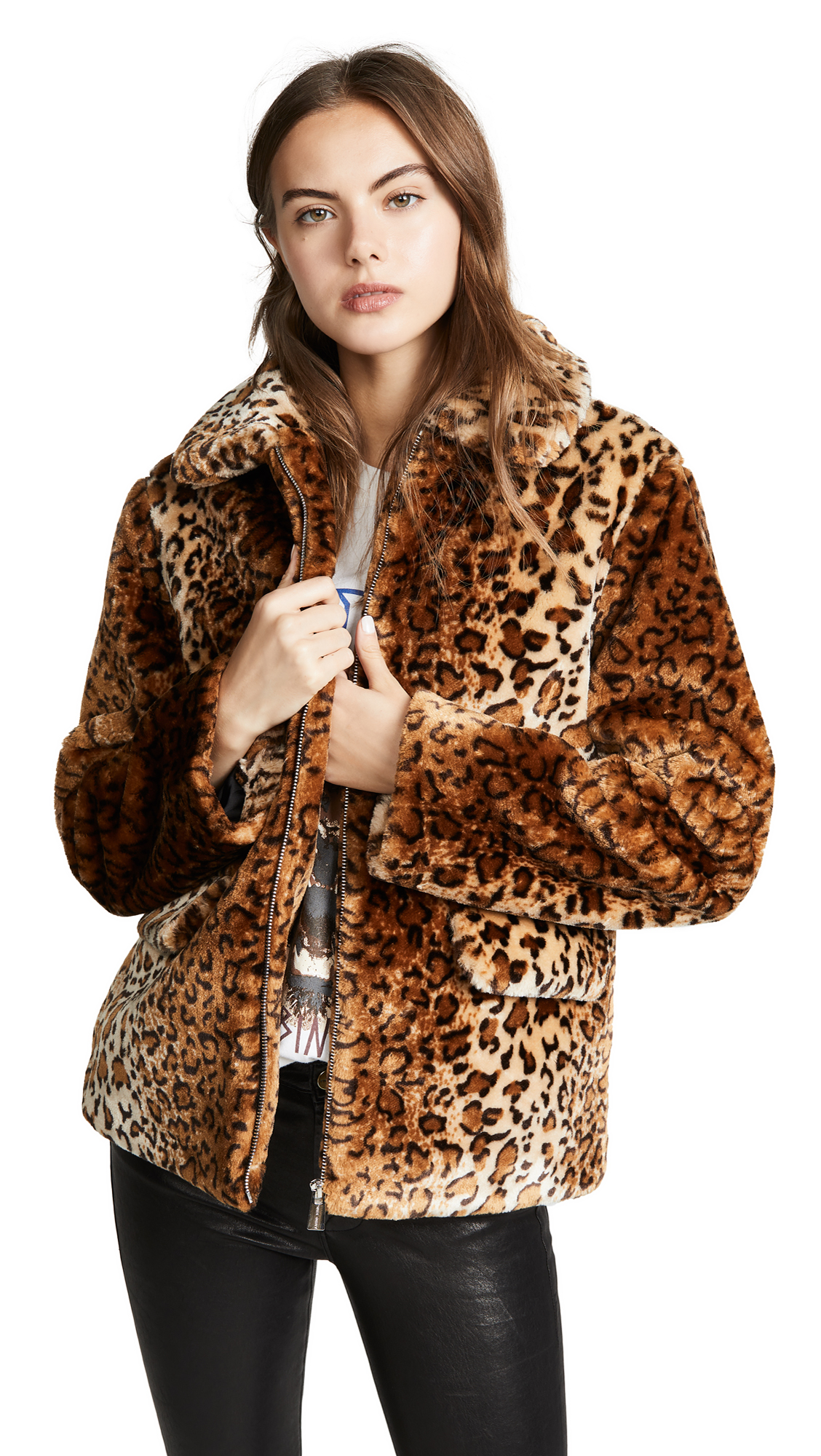 Buy ANINE BING online - photo of ANINE BING Molly Faux Fur Jacket