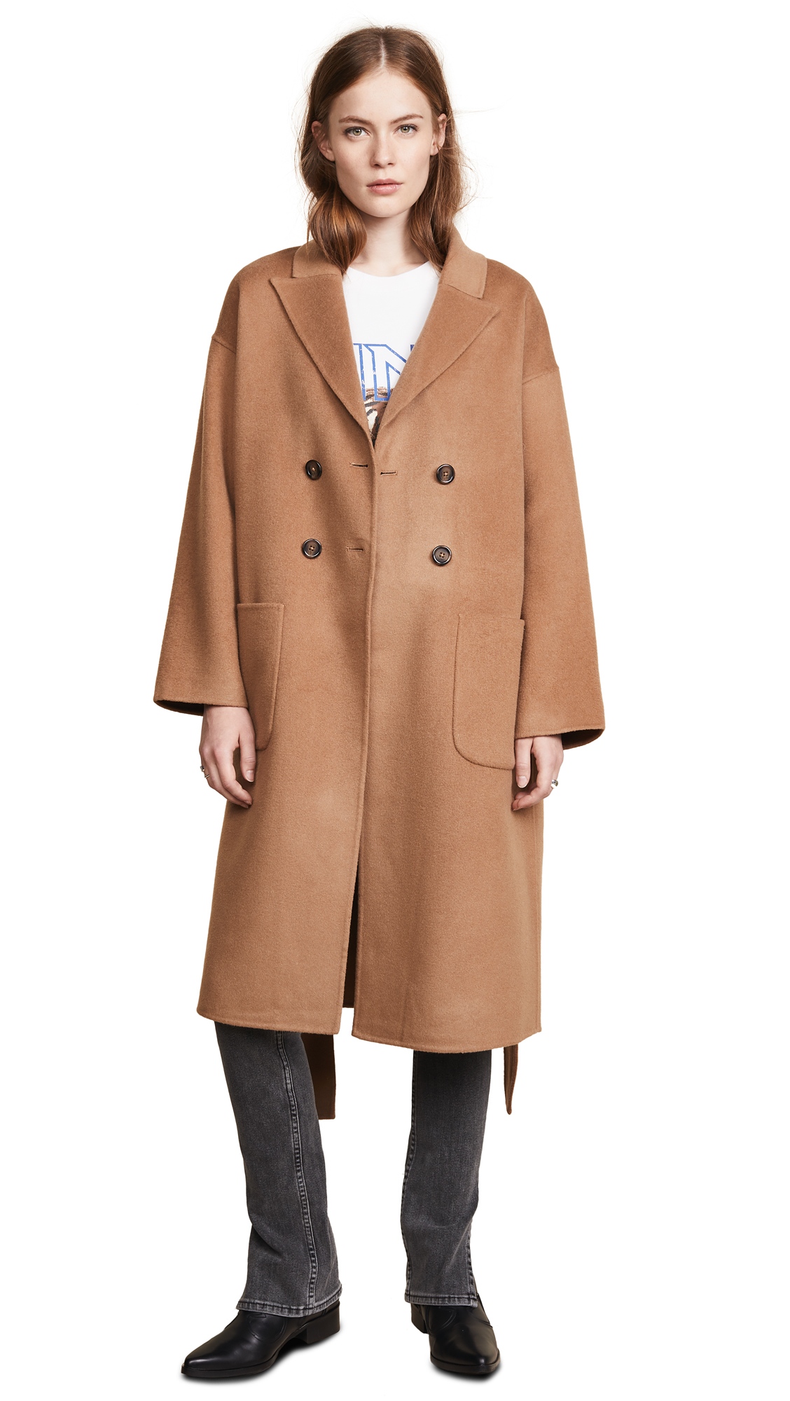 ANINE BING Dylan Coat In Brown