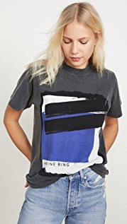 ANINE BING Georgie Blue Painting Tee
