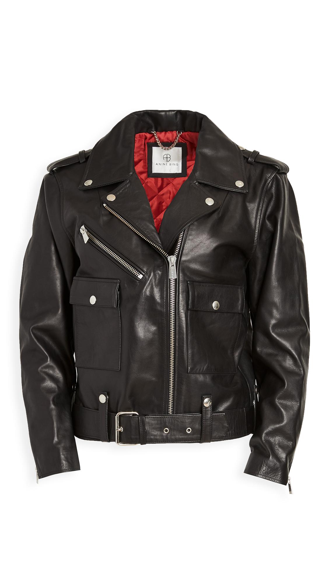 Buy ANINE BING Maverick Leather Jacket online beautiful ANINE BING Clothing, Jackets