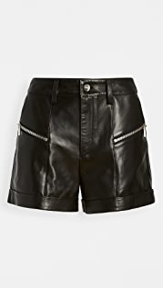 ANINE BING Lia Leather Shorts